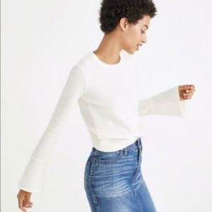 Madewell Ribbed Bell-Sleeve Top